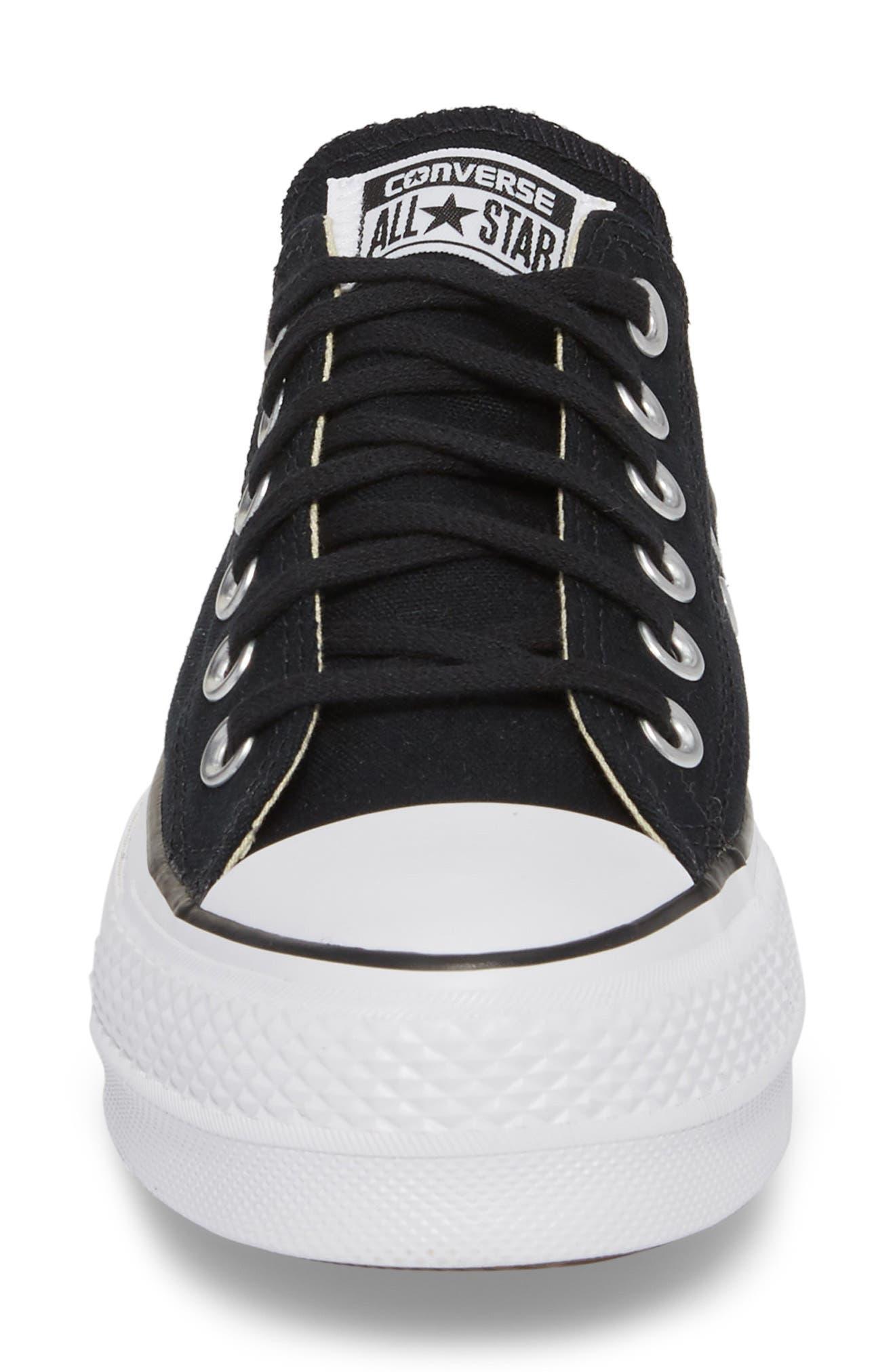 ,                             Chuck Taylor<sup>®</sup> All Star<sup>®</sup> Platform Sneaker,                             Alternate thumbnail 4, color,                             BLACK/ WHITE/ WHITE
