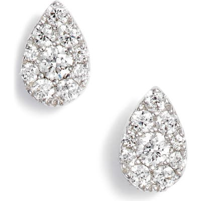 Bony Levy Diamond Pave Pear Stud Earrings (Nordstrom Exclusive)