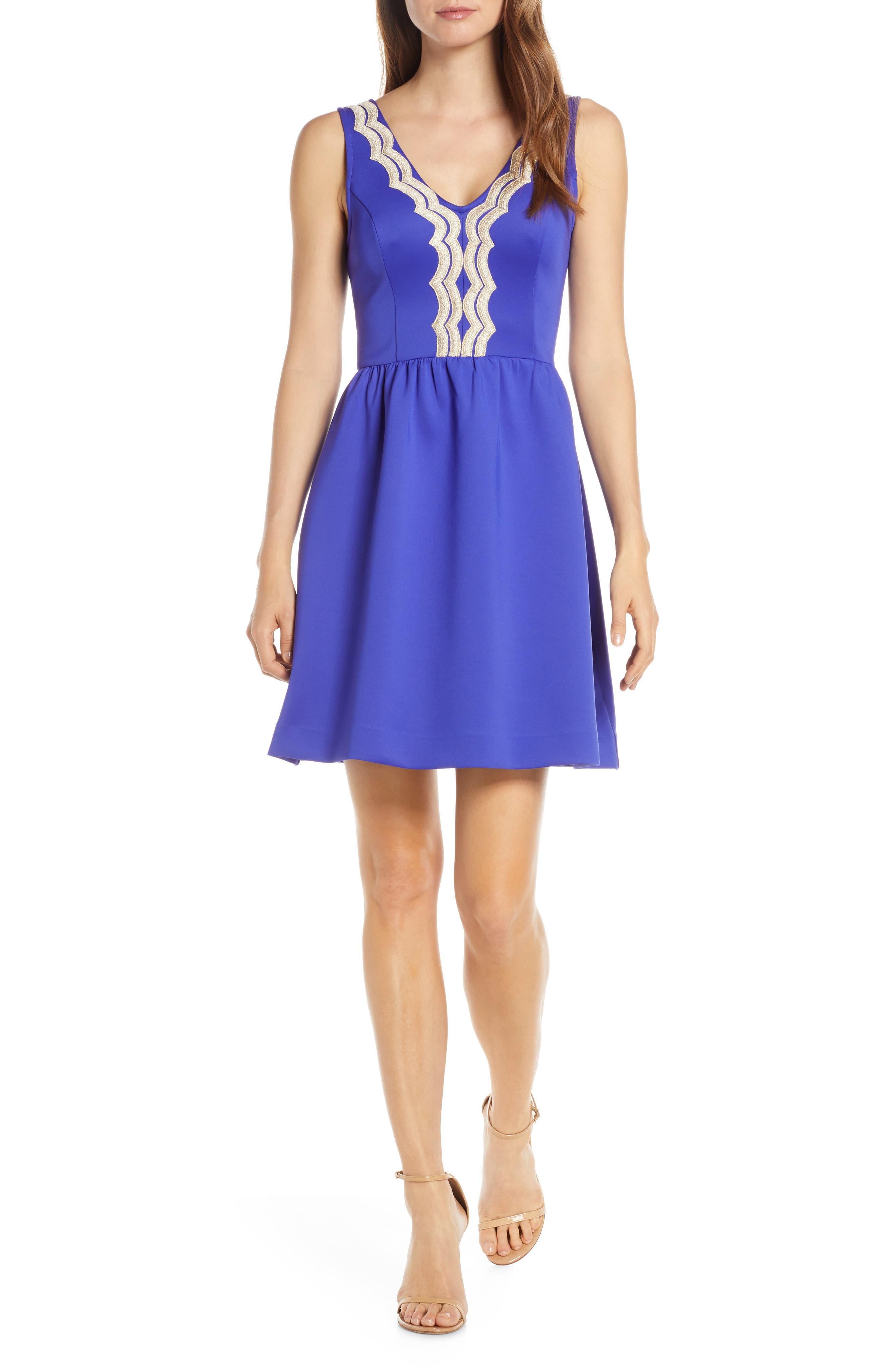 Lilly Pulitzer Rorey Fit & Flare Dress, Purple