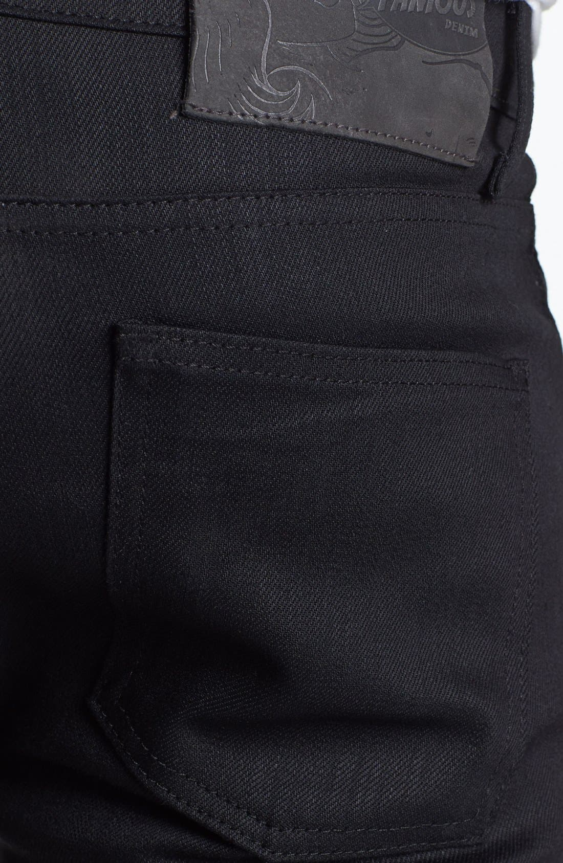 ,                             Skinny Guy Skinny Fit Jeans,                             Alternate thumbnail 8, color,                             BLACK POWER STRETCH
