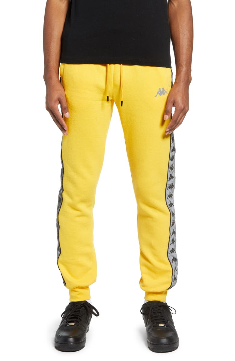 KAPPA 222 Banda Dariis Reflective Sweatpants, Main, color, YELLOW-GREY REFLECTIVE