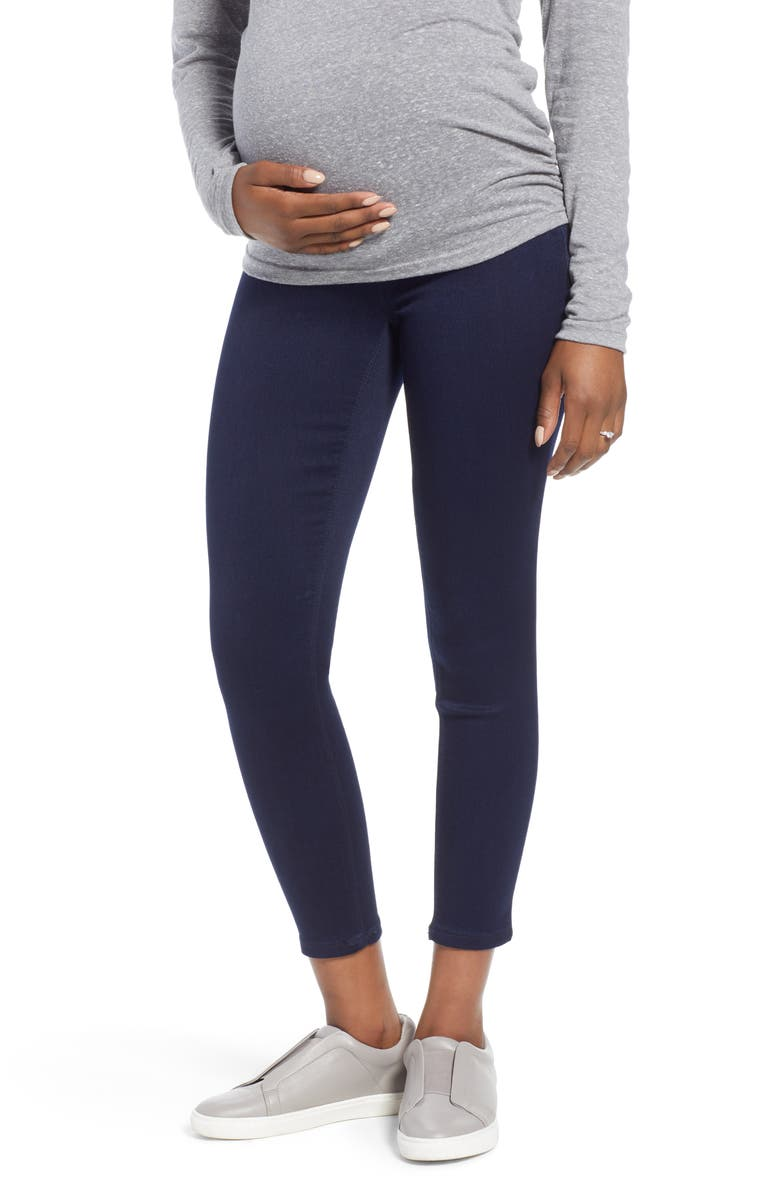 1822 DENIM Butter Ankle Super Skinny Maternity Jeans, Main, color, RINSE