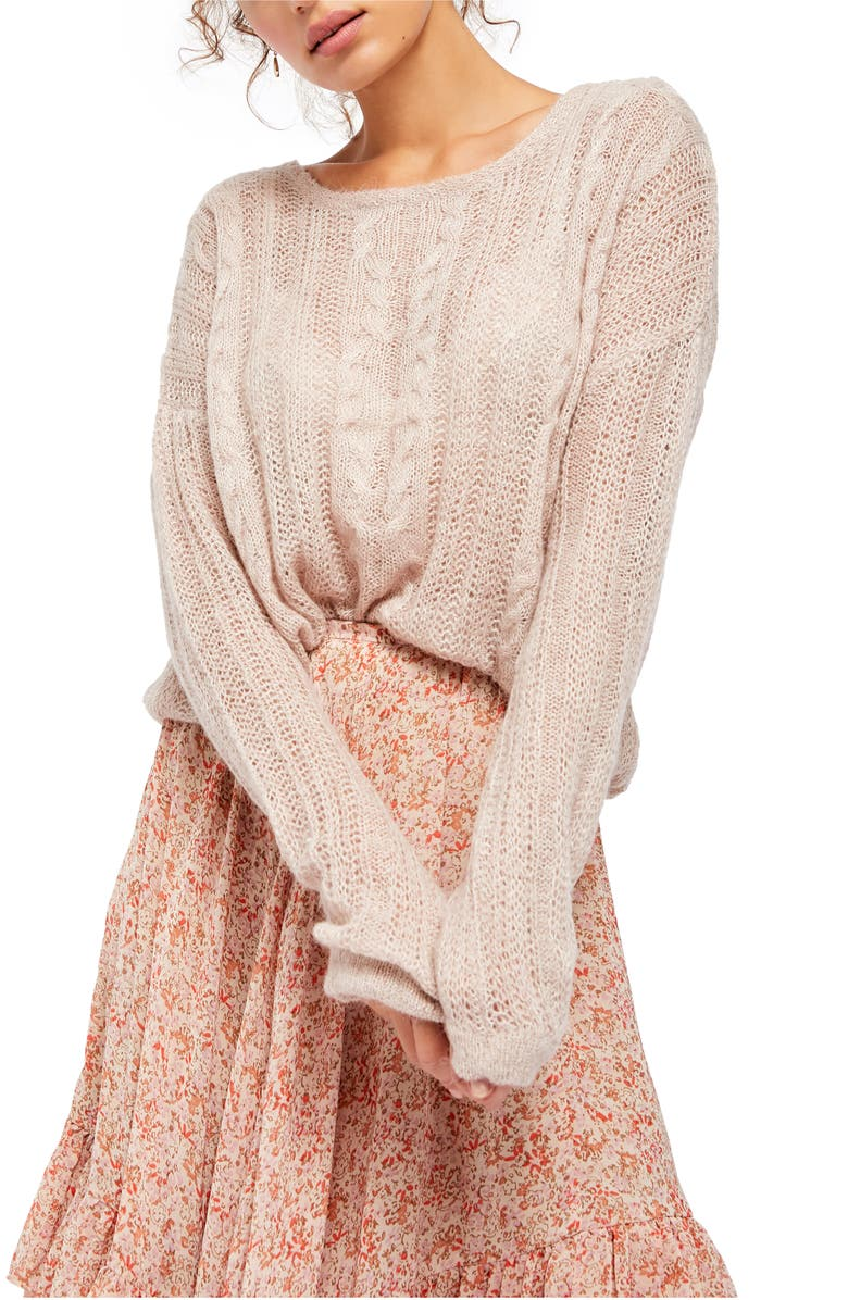 FREE PEOPLE Angel Sweater, Main, color, FRAPPUCINO COMBO