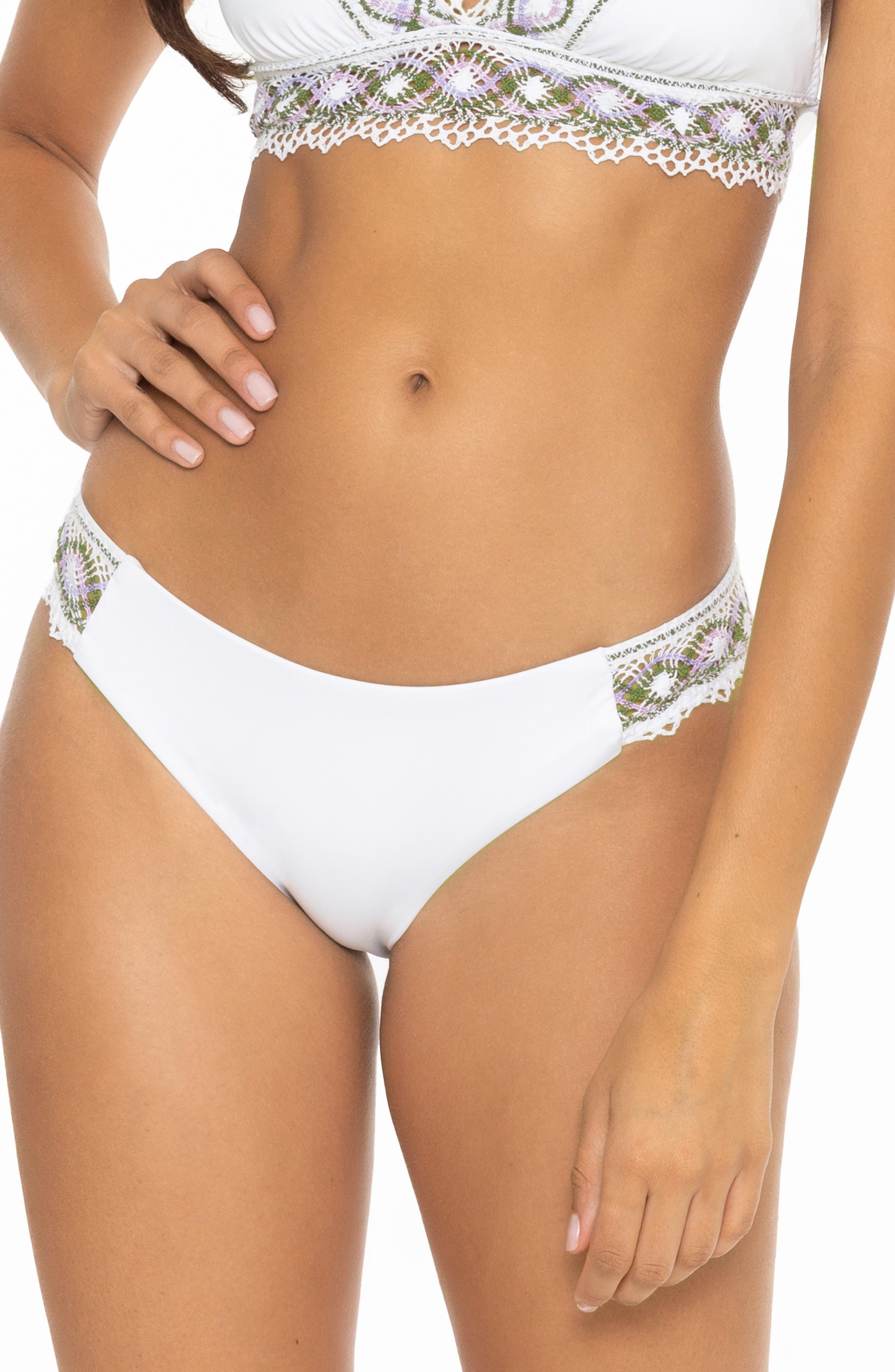 Tallulah Crochet Trim Side Tab Bikini Bottoms
