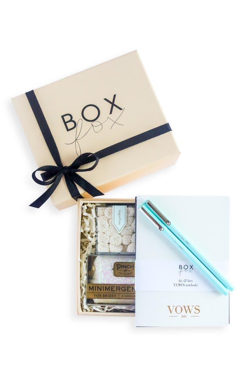 BOXFOX Something Blue Gift Box, Main, color, NUDE