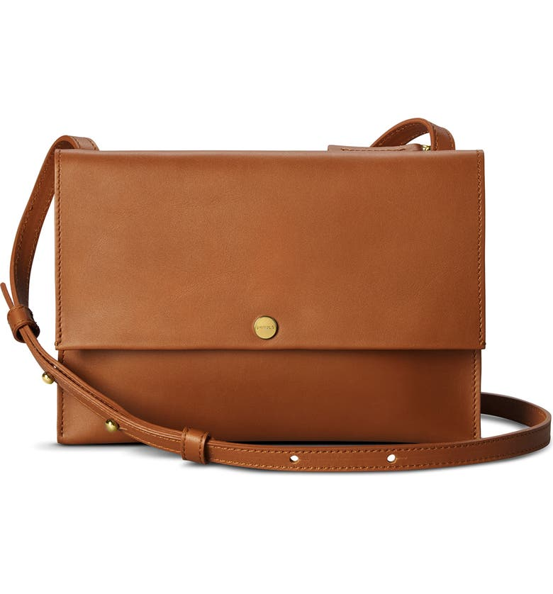 SHINOLA Leather Crossbody Bag, Main, color, 200