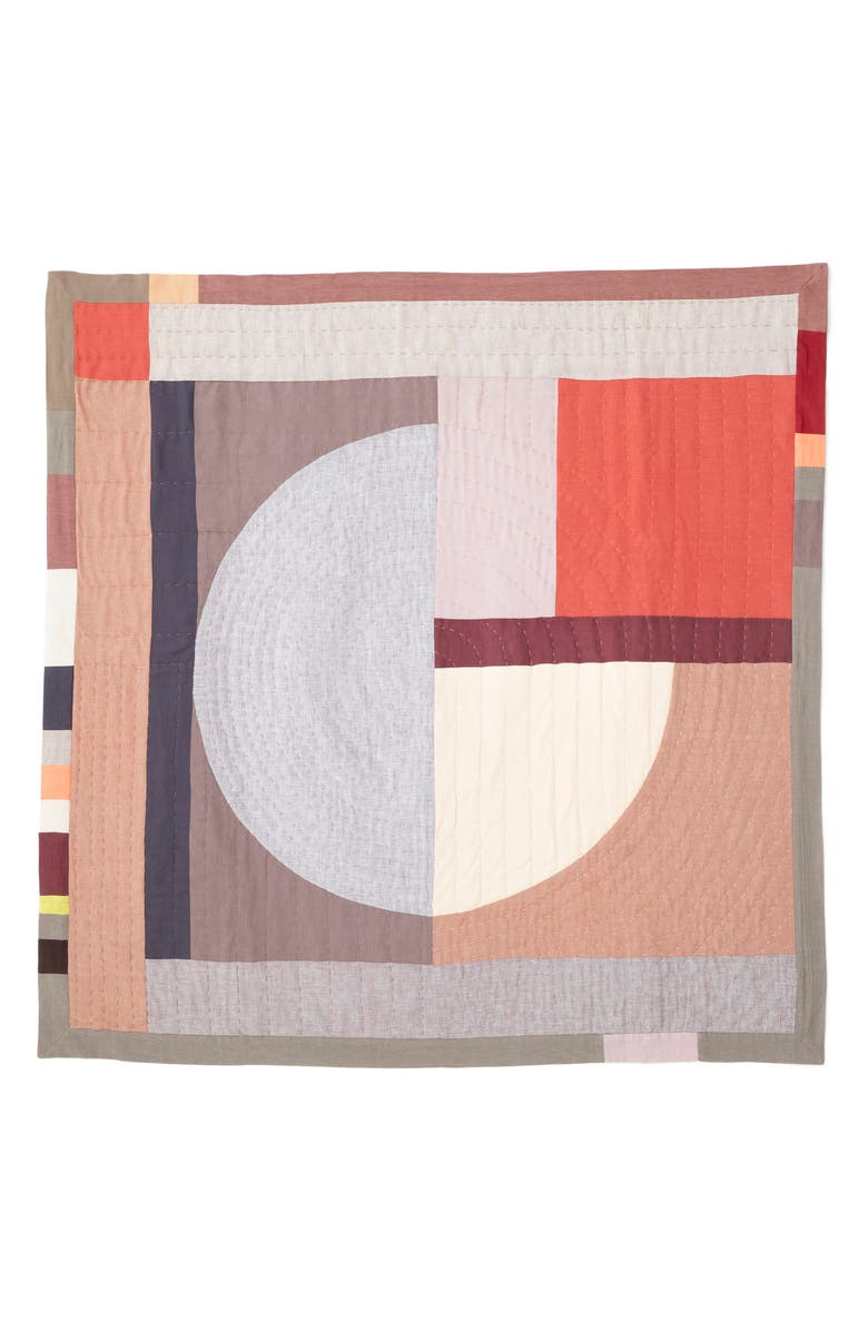 THOMPSON STREET STUDIO Sol Cotton & Linen Quilt, Main, color, RED