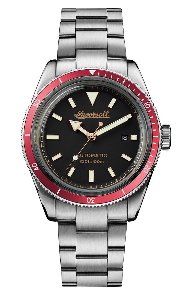 INGERSOLL Scovill Automatic Bracelet Watch, 43mm, Main, color, 040