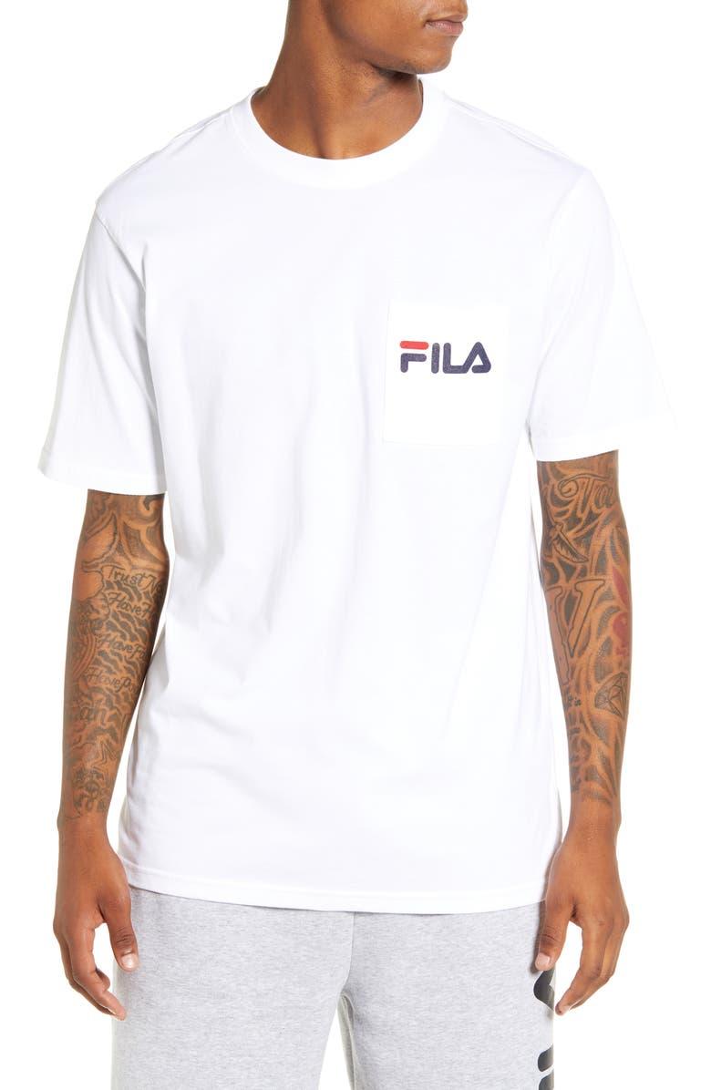 FILA Curtis Pocket T-Shirt, Main, color, WHITE