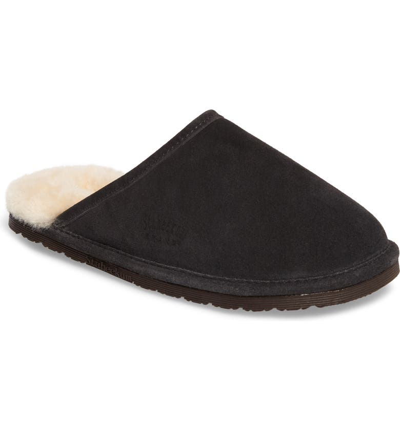Stahee Alpine Scuff Slipper With Genuine Shearling Lining