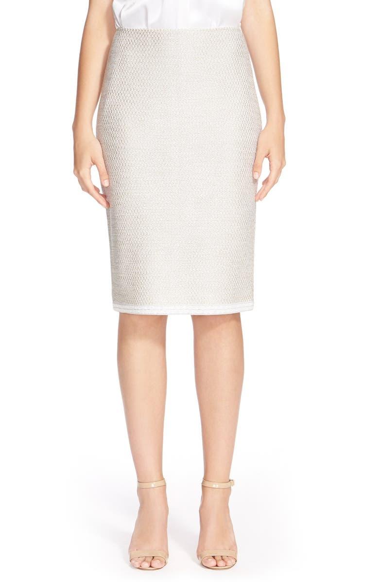 ST. JOHN COLLECTION 'Cerio' Knit Pencil Skirt, Main, color, 260