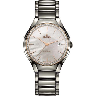 Rado True Diamond Ceramic Bracelet Watch, 40Mm