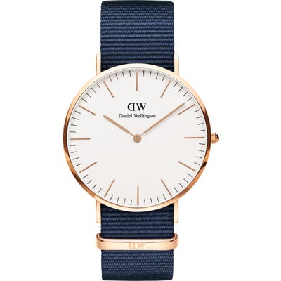 Daniel Wellington Classic Nato Strap Watch, 40mm
