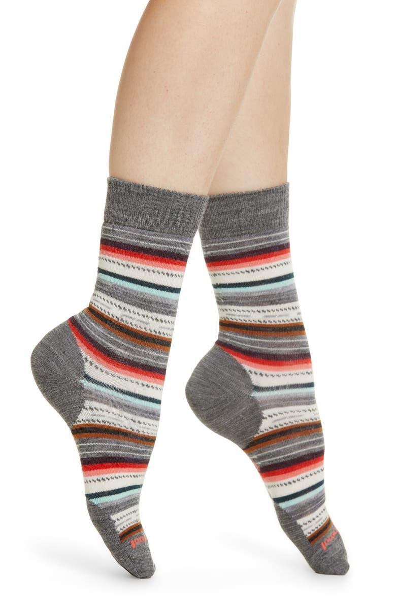 SMARTWOOL Margarita Crew Socks, Main, color, MEDIUM GRAY HEATHER