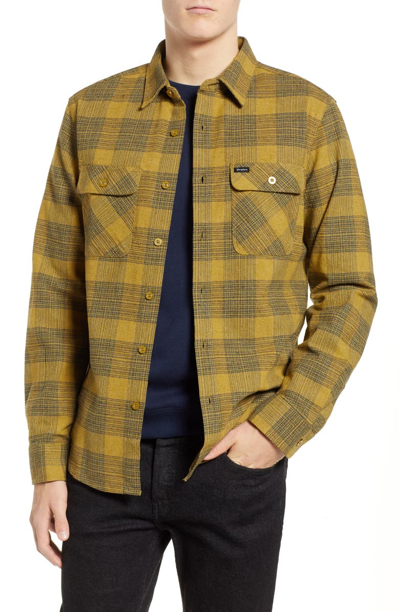 91728729 Brixton Bowery Flannel Shirt | Nordstrom