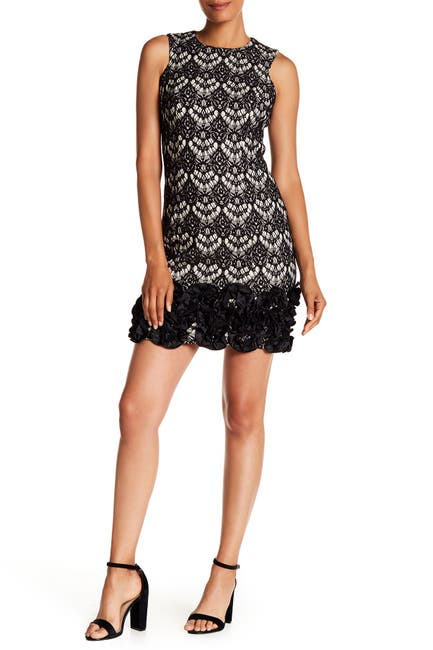 Image of Donna Ricco Sleeveless Lace Mini Dress