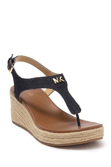 Image of MICHAEL Michael Kors Laney T-Strap Espadrille Wedge Sandal
