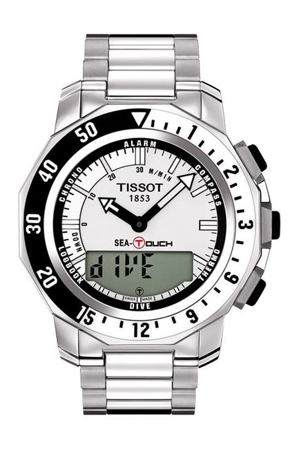Image of Tissot Men's Seatouch Stainless Steel Bracelet Watch, 47mm