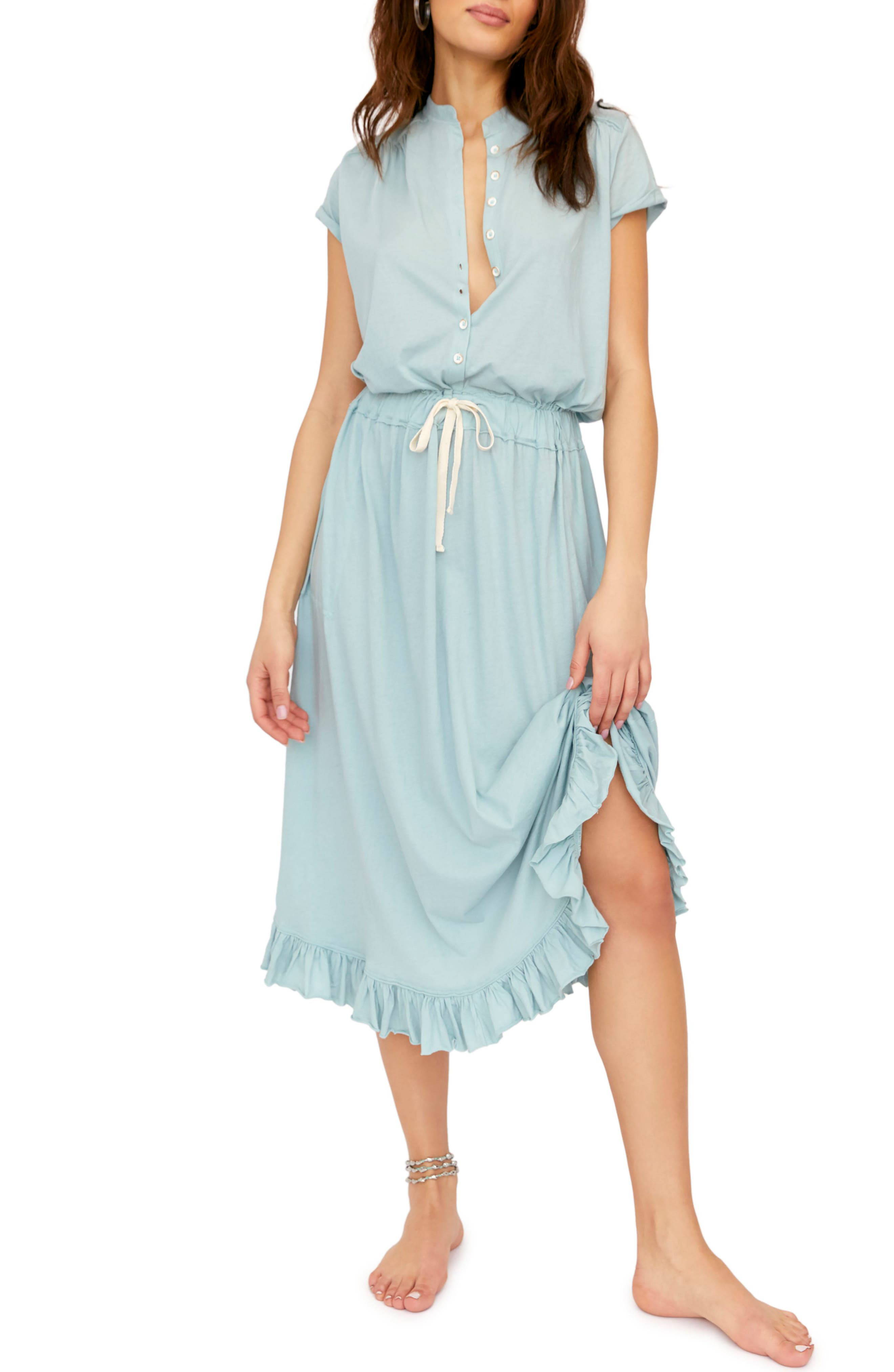 Free People Ludrow Midi Dress, Blue