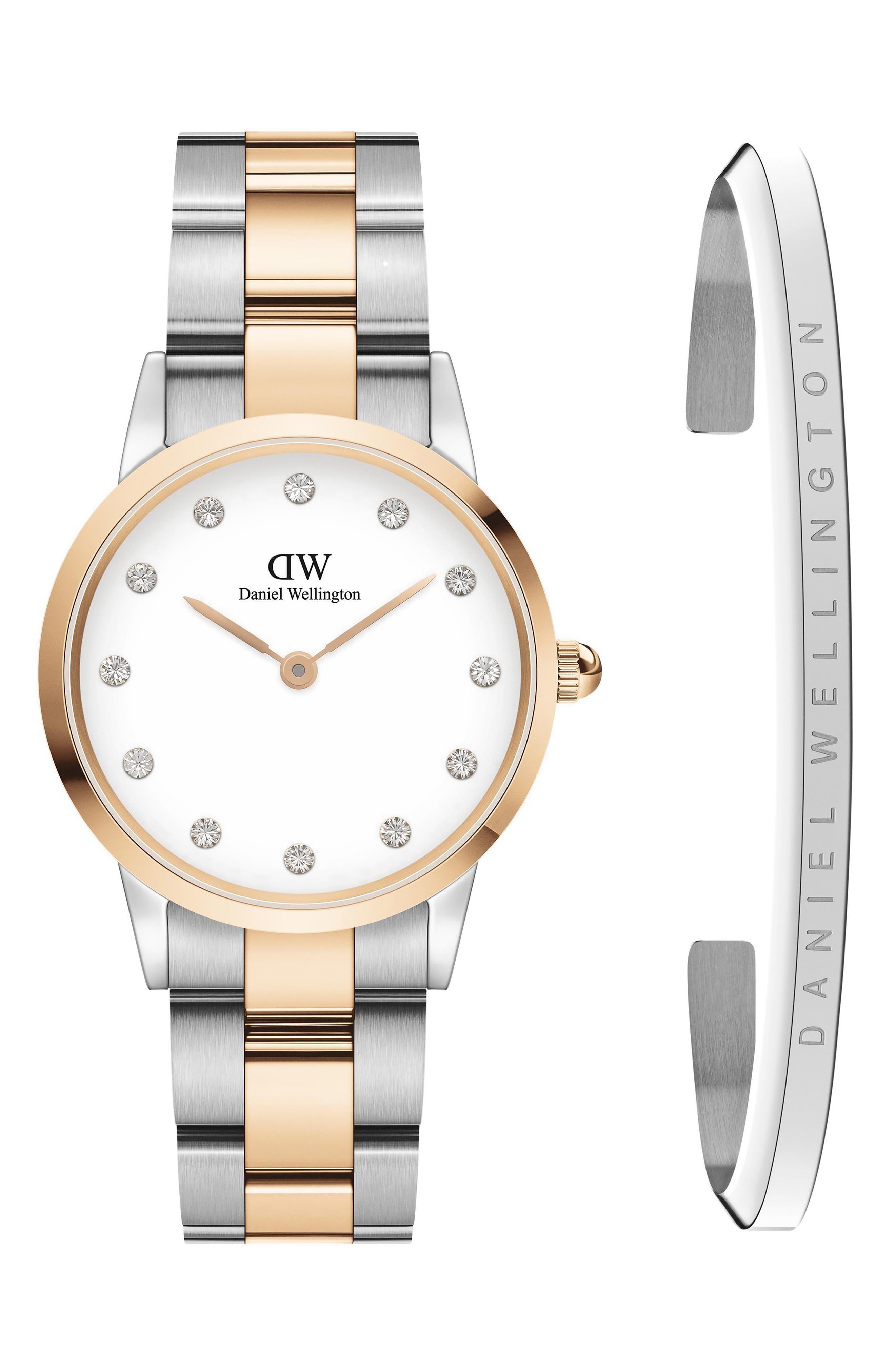Iconic Link Lumine Bracelet Watch & Cuff Set