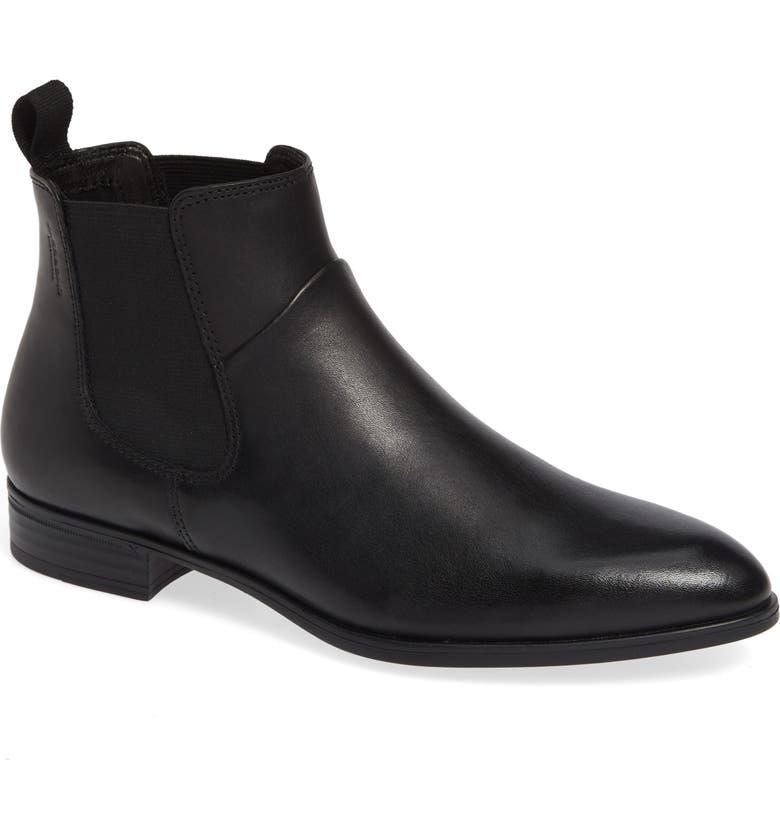 VAGABOND SHOEMAKERS Frances Sister Chelsea Boot, Main, color, BLACK LEATHER