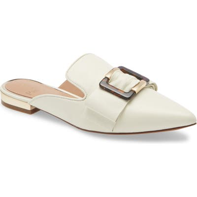 Linea Paolo Ava Loafer Mule- Ivory