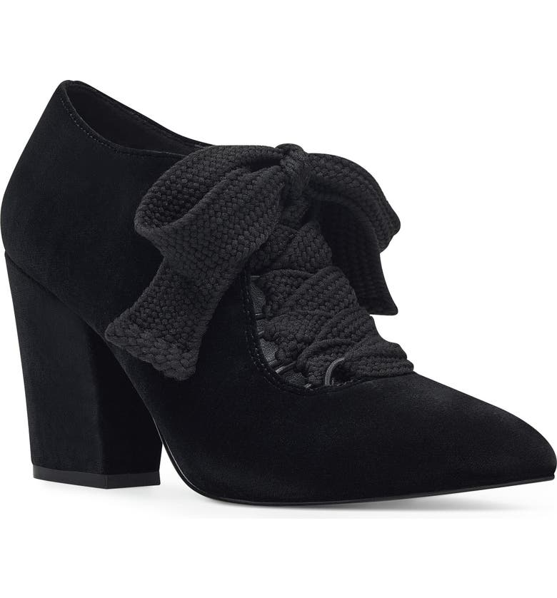 NINE WEST Sweeorn Lace-Up Bootie, Main, color, 009