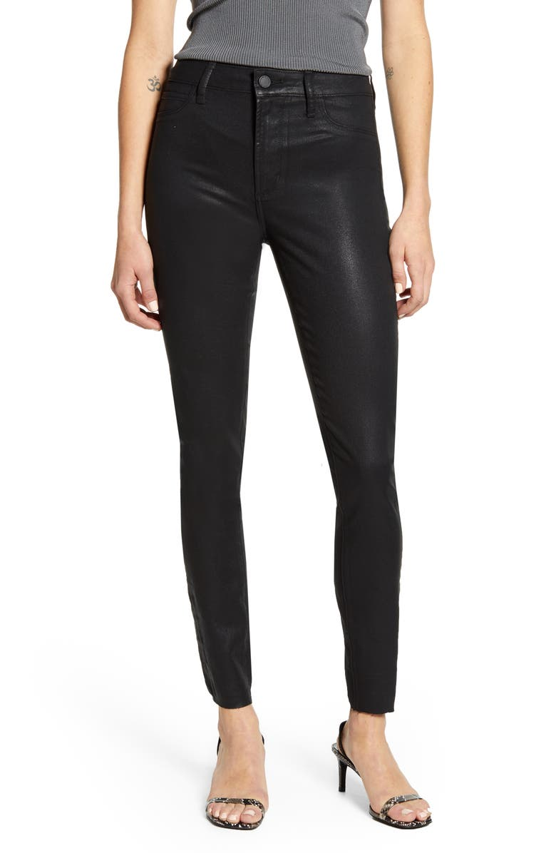 ARTICLES OF SOCIETY Hilary High Waist Coated Skinny Jeans, Main, color, HUNTER