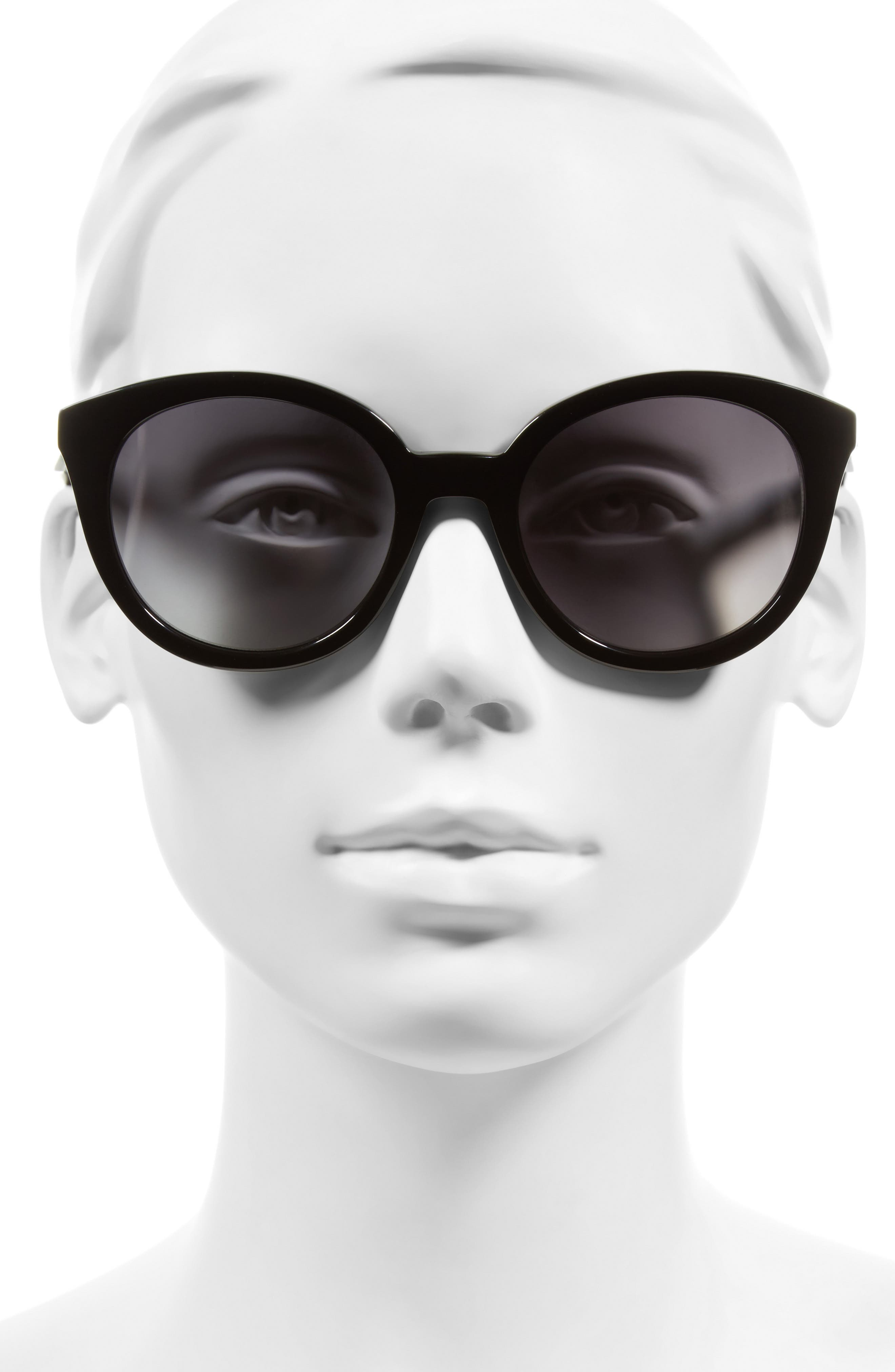 ,                             Holland 50mm Gradient Round Sunglasses,                             Alternate thumbnail 4, color,                             001
