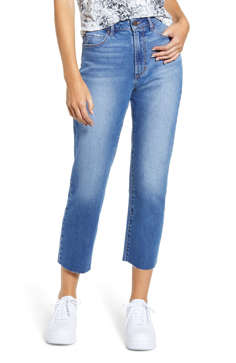 ARTICLES OF SOCIETY Kate Crop Straight Leg Jeans, Main, color, 400