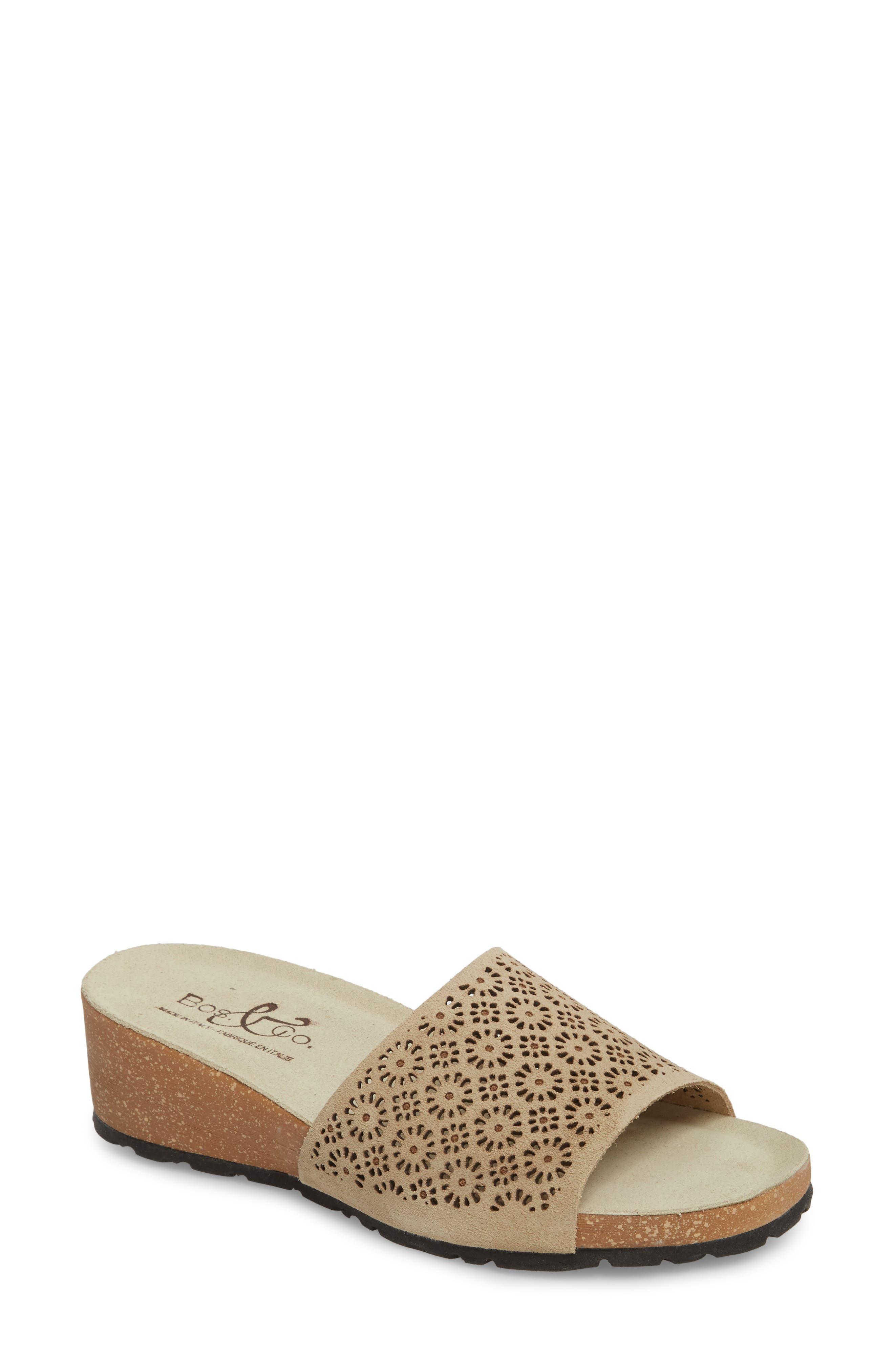 Bos. & Co. Loa Wedge Slide Sandal - Beige