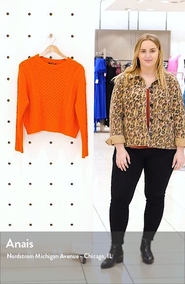 Drop Shoulder Aran Sweater, sales video thumbnail