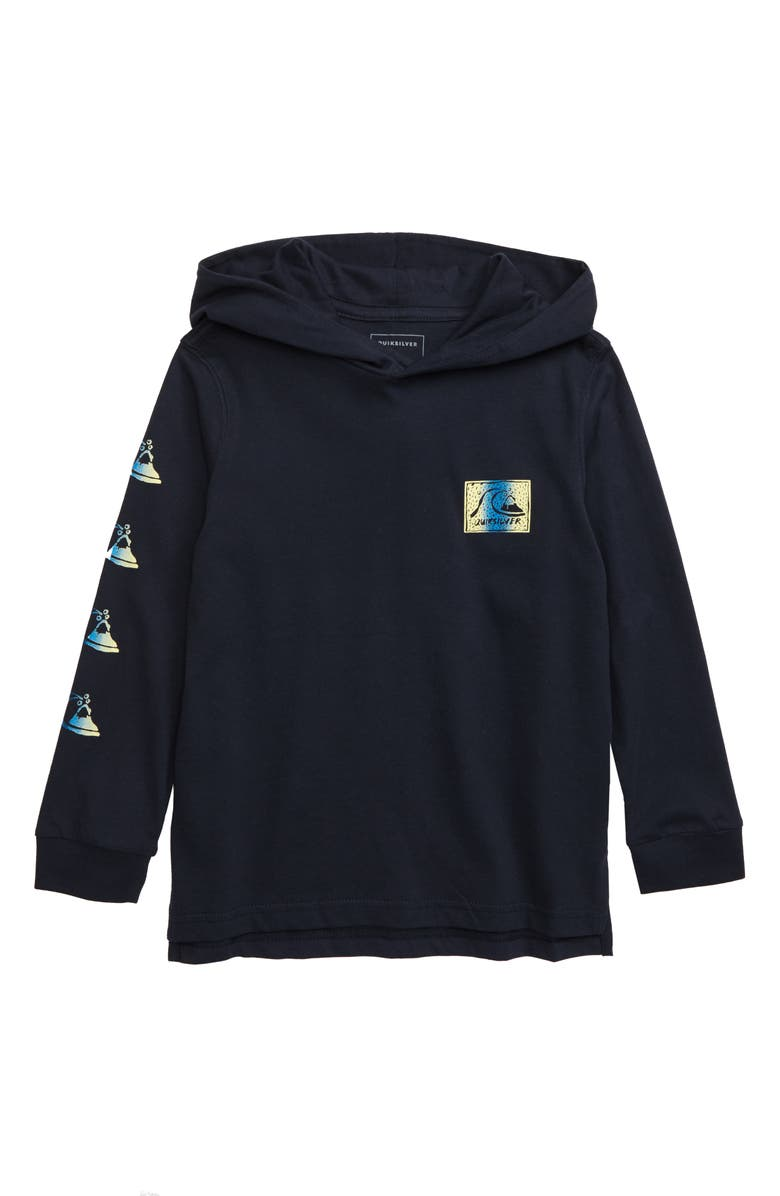 QUIKSILVER Fade Out Hooded Pullover, Main, color, SKY CAPTAIN