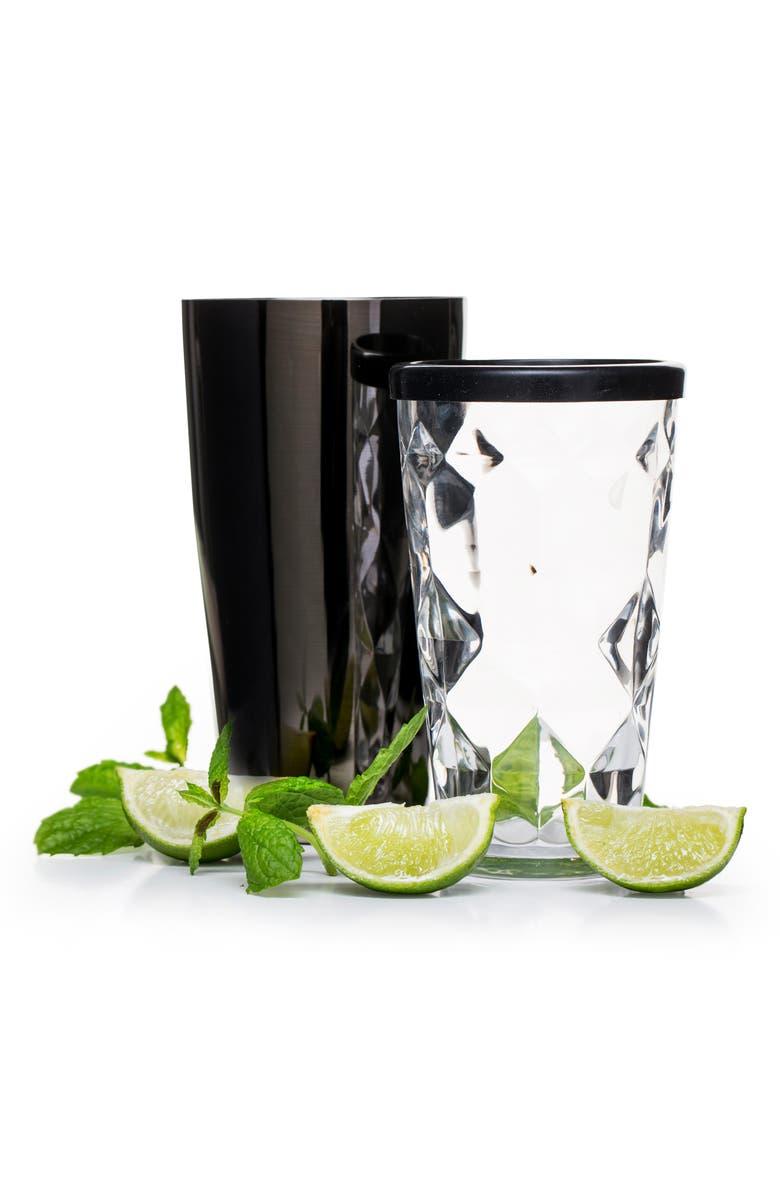 SAGAFORM 2-Piece Cocktail Shaker Set, Main, color, BLACK