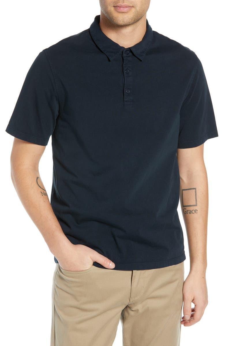 VINCE Slim Fit Garment Dye Short Sleeve Polo, Main, color, 403