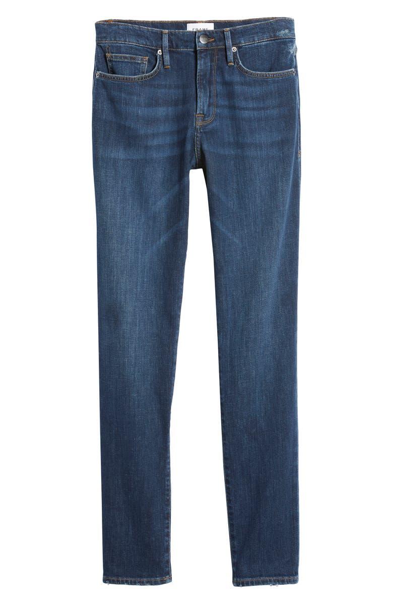 FRAME L'Homme Athletic Slim Fit Jeans, Main, color, BLUE FIN