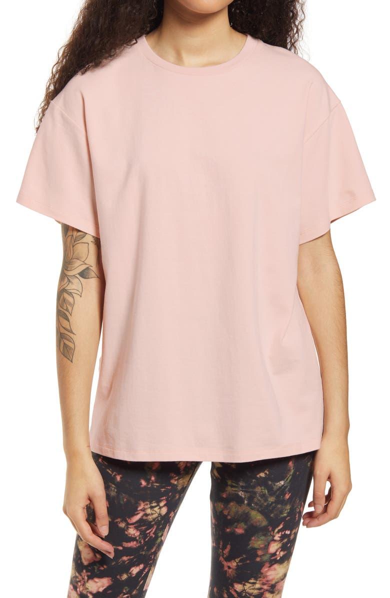 AFRM Bacio Oversize Tunic T-Shirt, Main, color, BLUSH