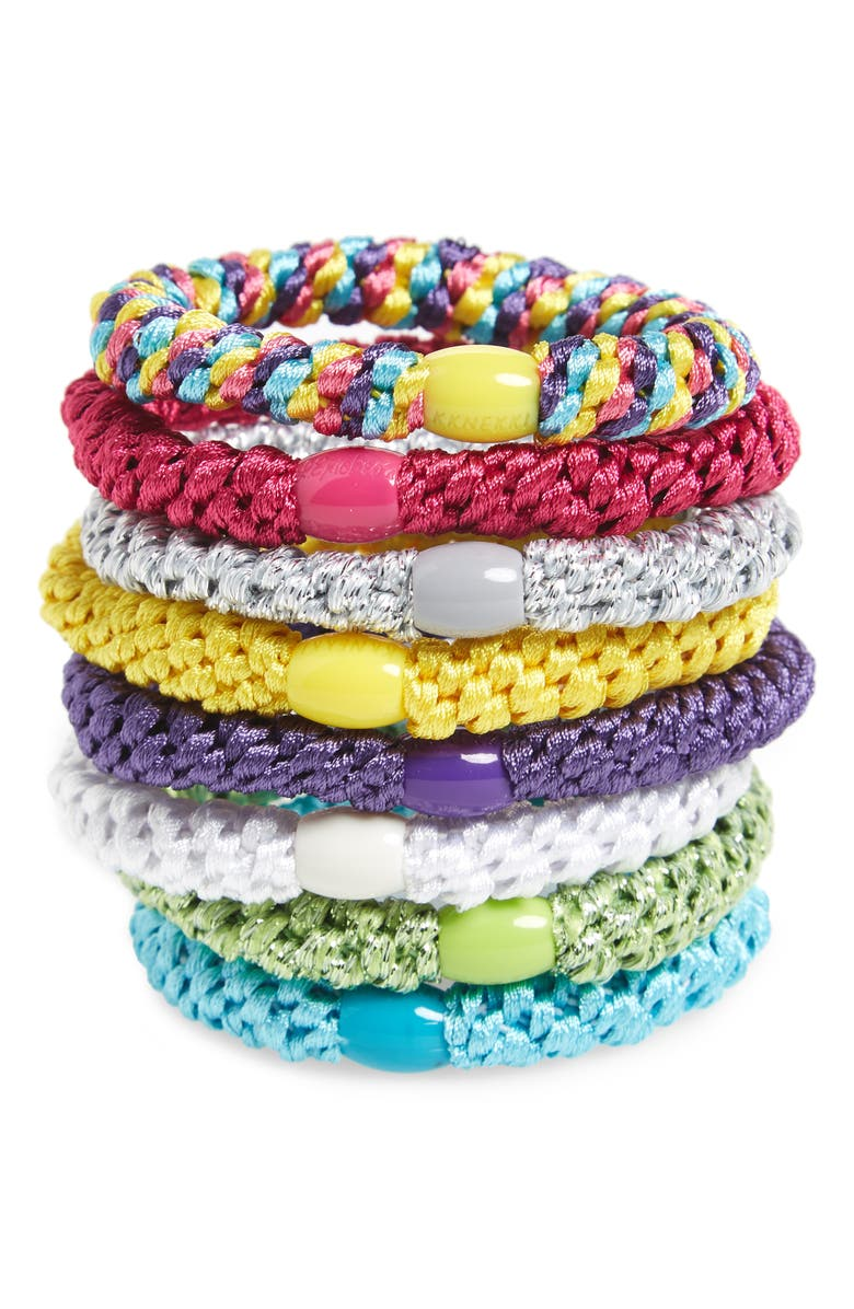 L. ERICKSON Ponytail Holders, Main, color, TROPICS