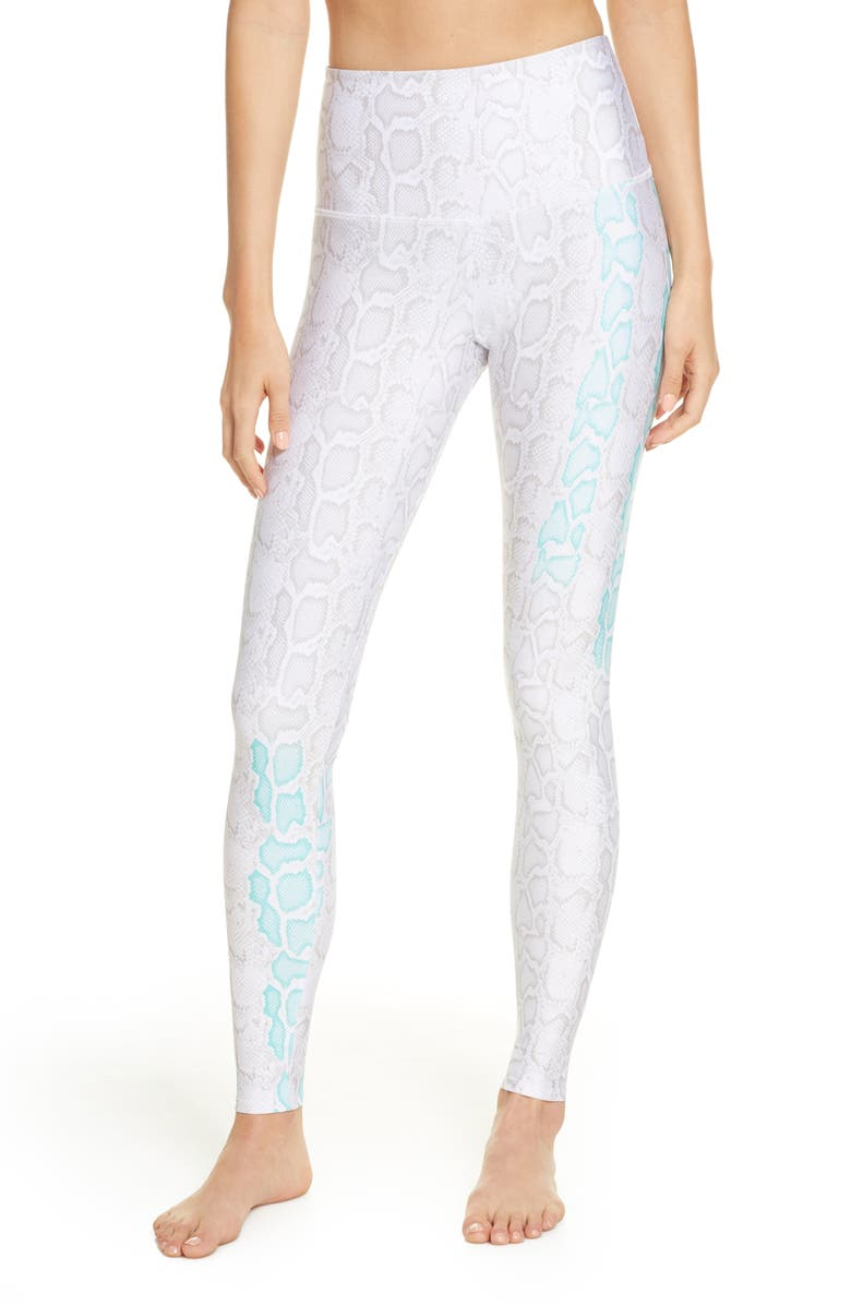 ONZIE Graphic High Rise Leggings, Main, color, 908