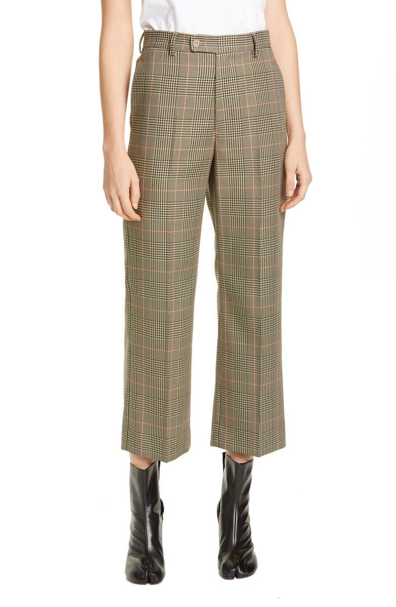 MAISON MARGIELA Galles Plaid Crop Pants, Main, color, 200