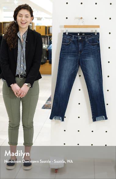 Reese High Waist Frayed Step Hem Ankle Straight Leg Jeans, sales video thumbnail