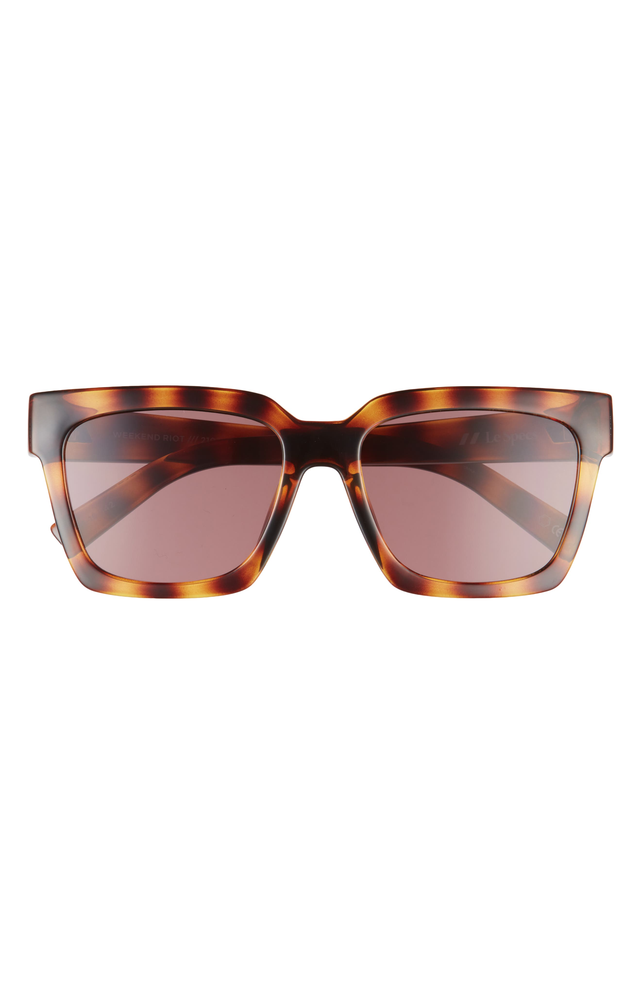 Weekend Riot 56mm Square Sunglasses