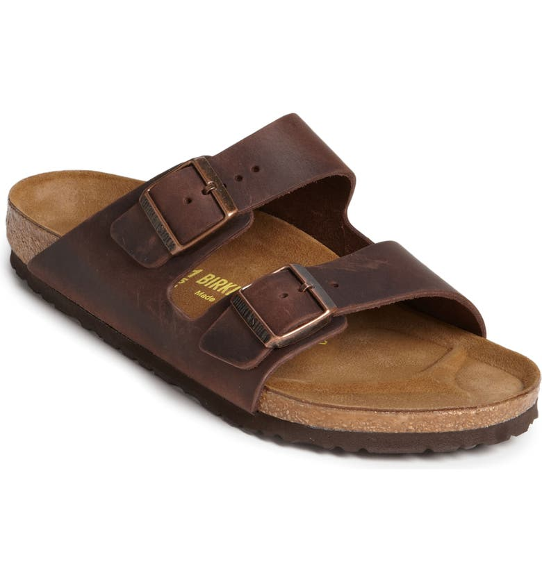 BIRKENSTOCK Arizona Slide Sandal, Main, color, HABANA OILED BROWN