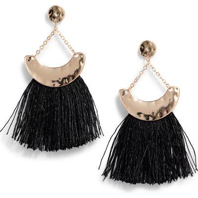 Knotty Fringe Drop Earrings