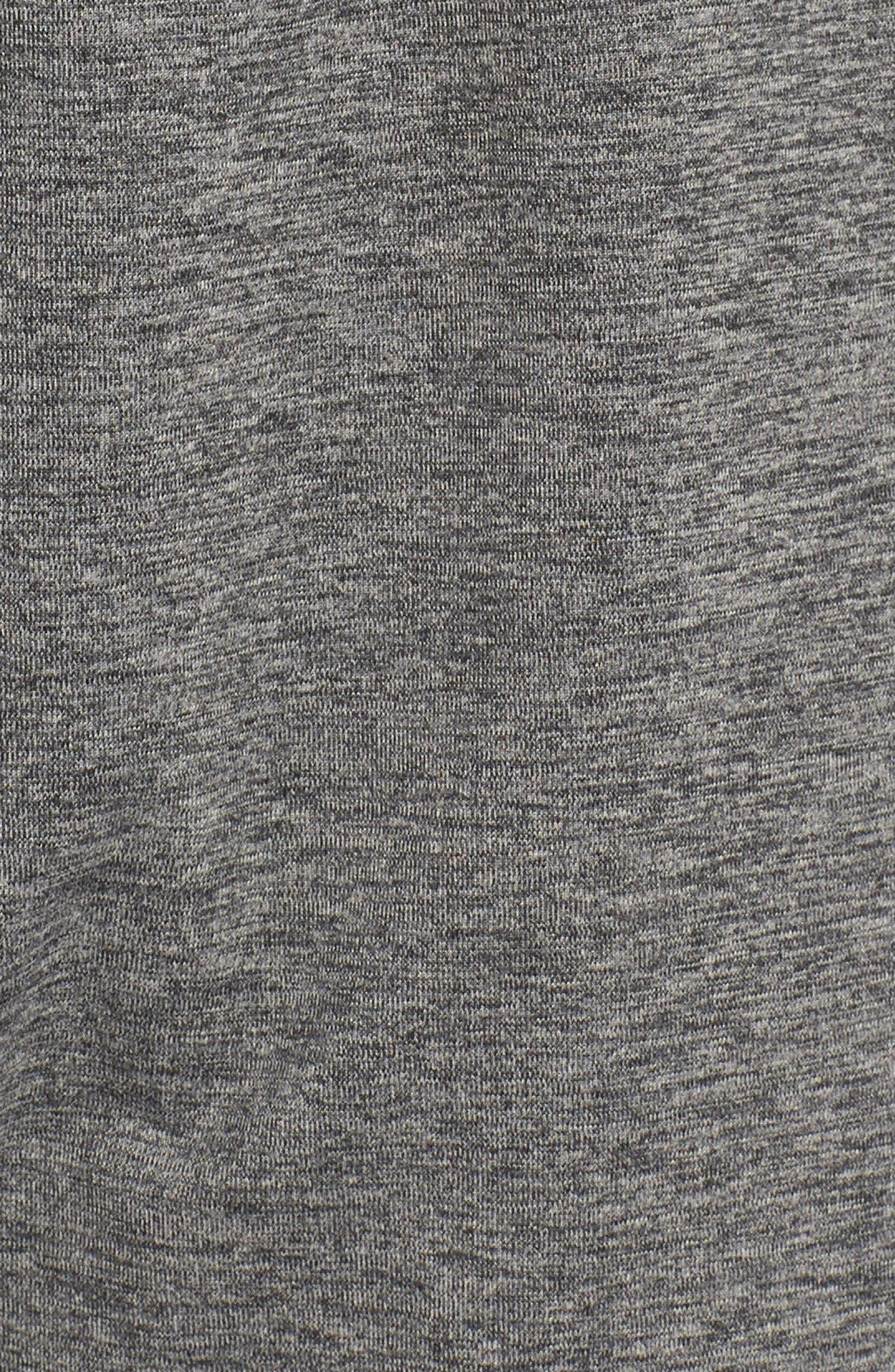 ,                             Transcend Dry Yoga Training Pants,                             Alternate thumbnail 6, color,                             BLACK/ HEATHER/ BLACK