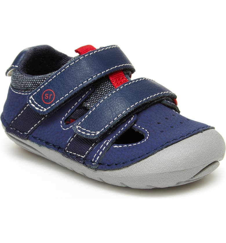 STRIDE RITE Soft Motion<sup>™</sup> Elijah Sandal, Main, color, NAVY LEATHER