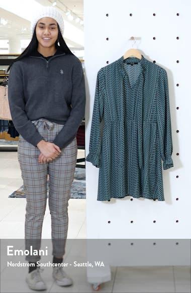Zenac Geo Print Long Sleeve Short Dress, sales video thumbnail