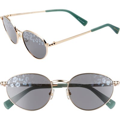 Rebecca Minkoff Stevie1 5m Oval Sunglasses - Light Gold