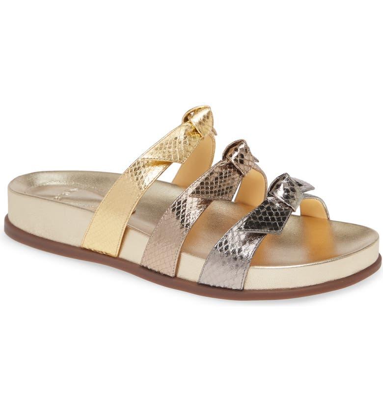 ALEXANDRE BIRMAN Lolita Slide Sandal, Main, color, GRAFITE/ LUNA/ GOLDEN