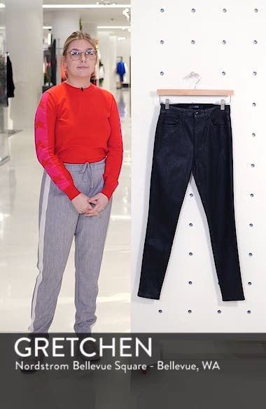 Flawless - Charlie Crackle Coated High Waist Ankle Skinny Jeans, sales video thumbnail
